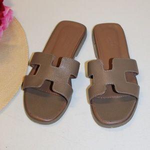 Hermes Paris slide Sandals Euro size 37